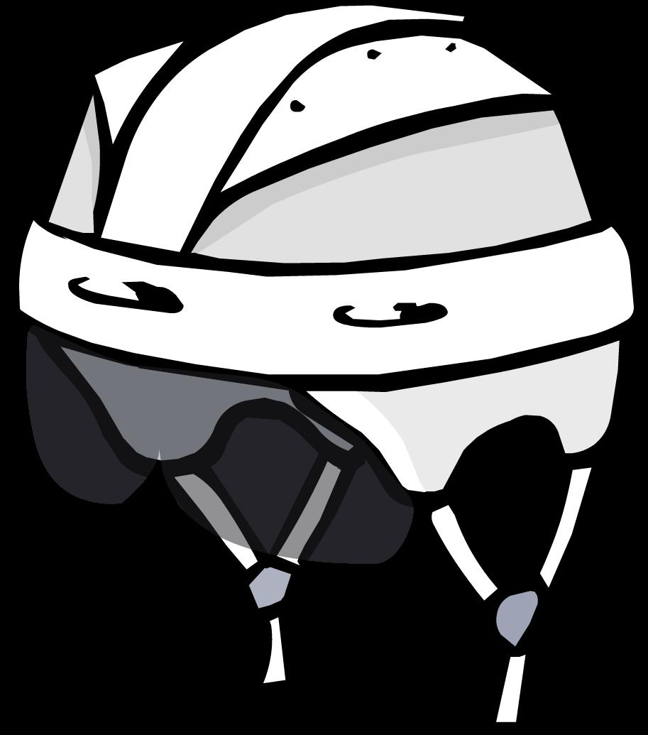 image freeuse Helmet club penguin wiki. Hockey clipart black and white