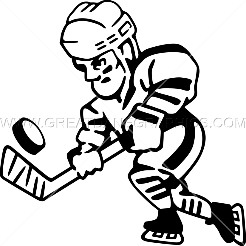 clip art black and white stock Skating production ready artwork. Hockey player clipart black and white