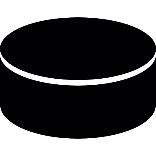 clipart royalty free stock Ice sports icon . Hockey puck clipart black and white