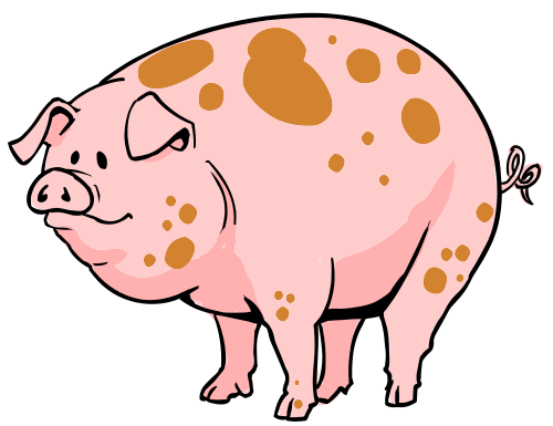 graphic free Hog clipart. Larger free on dumielauxepices