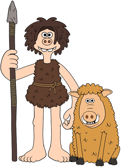 banner transparent stock Early man clip art. Hog clipart.