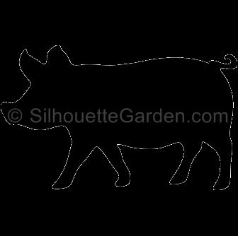 transparent Pig silhouette clip art