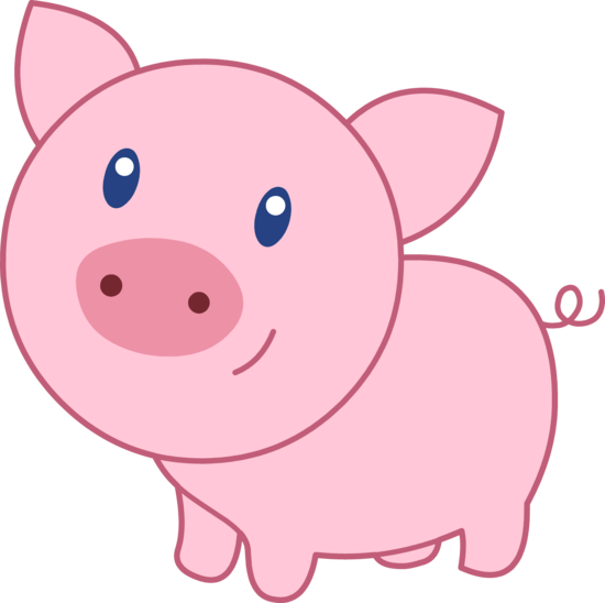 stock cute baby pigs clipart #57127051