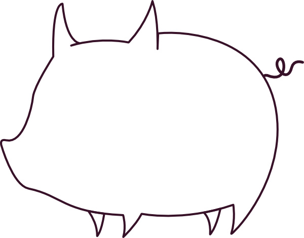 clip art library library Pig Head Silhouette at GetDrawings