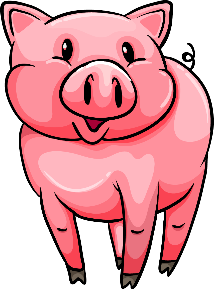 png black and white library Pig PNG Transparent Free Images