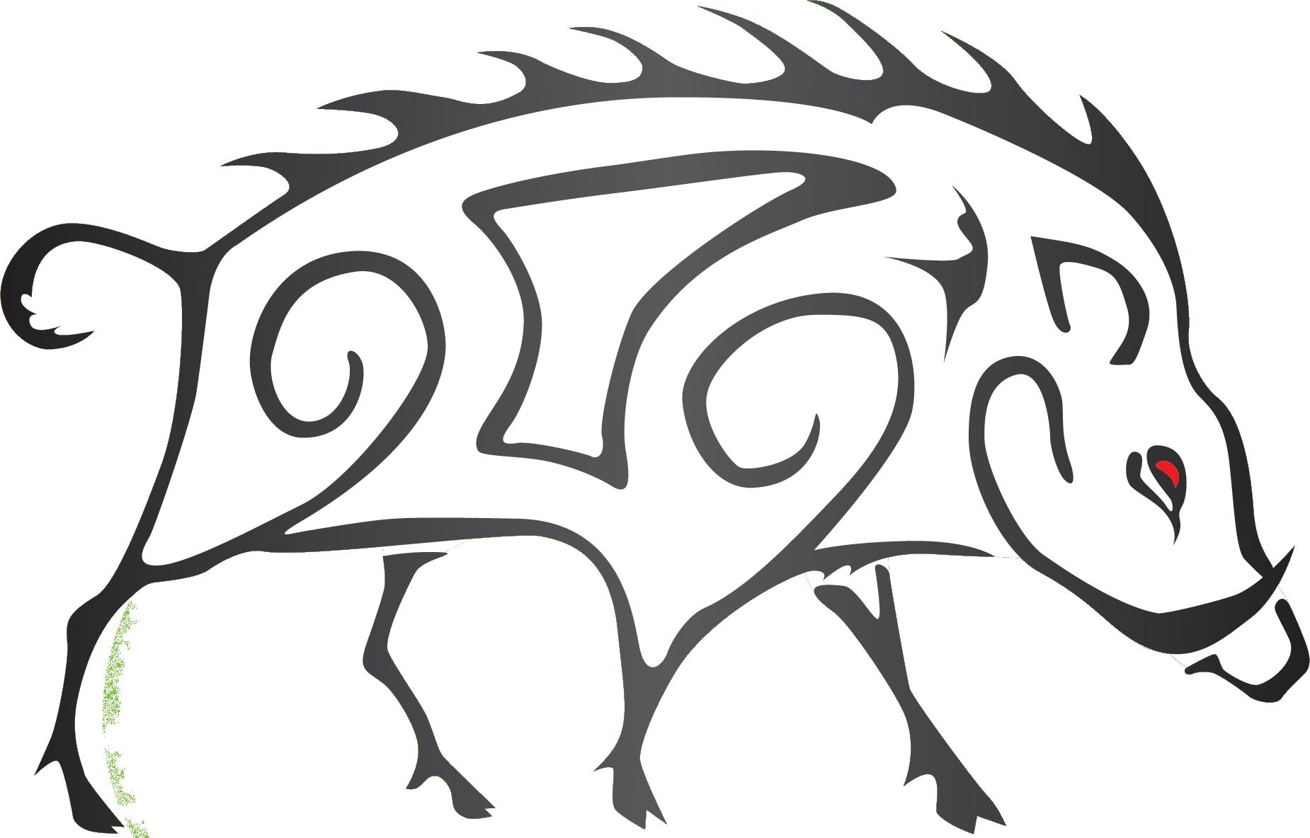 svg royalty free stock Boar Drawing at GetDrawings