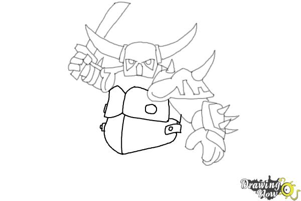 vector royalty free download Hog drawing coc pekka. How to draw p