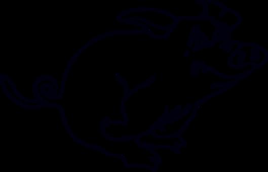 clip black and white Wild boar Miniature pig Cartoon Vietnamese Pot