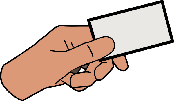 svg freeuse library Hand Holding Card Clipart