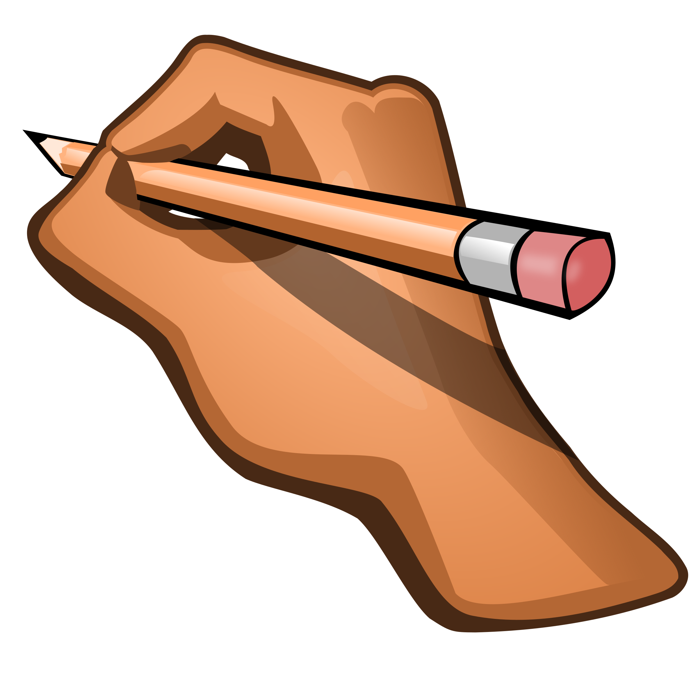 royalty free library Edit hand pencil big. Holding clipart