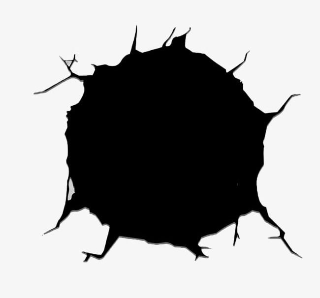 clipart free Wall crack png big. Hole clipart.