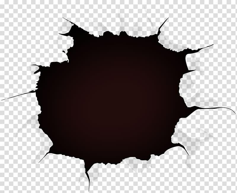 clip art black and white library Paper black crack transparent. Hole clipart.