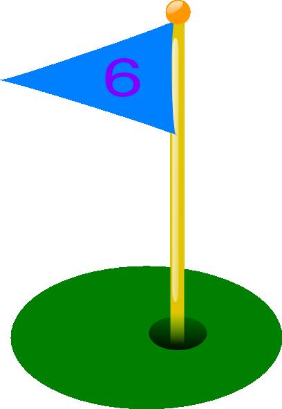 clipart transparent stock Hole clipart. Golf flag th clip.