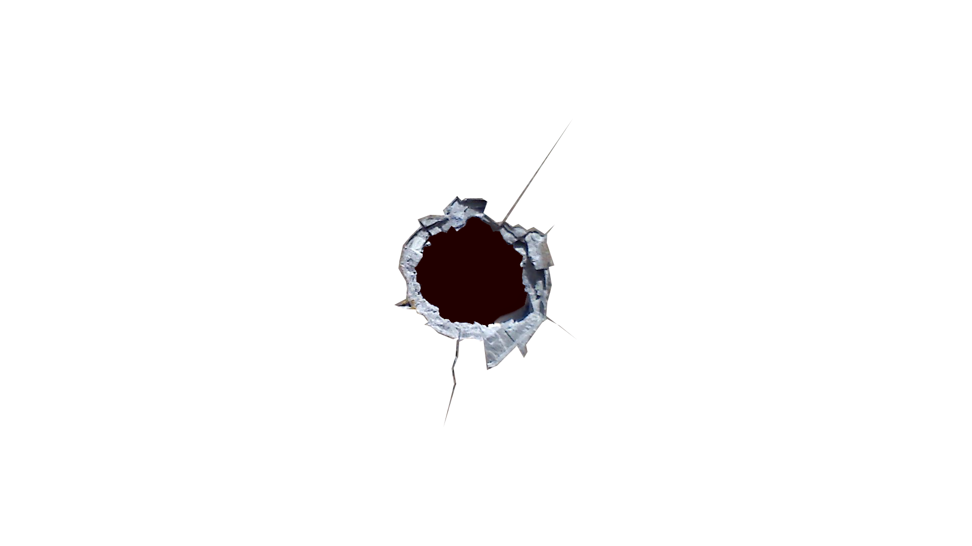 picture Vector cracks bullet. Gunshot clipart ripped hole