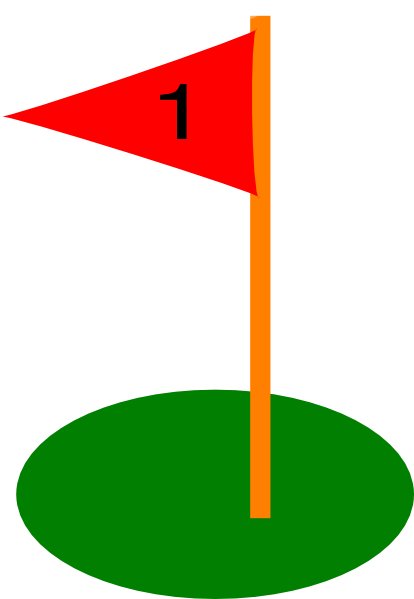 picture black and white Golf Flag