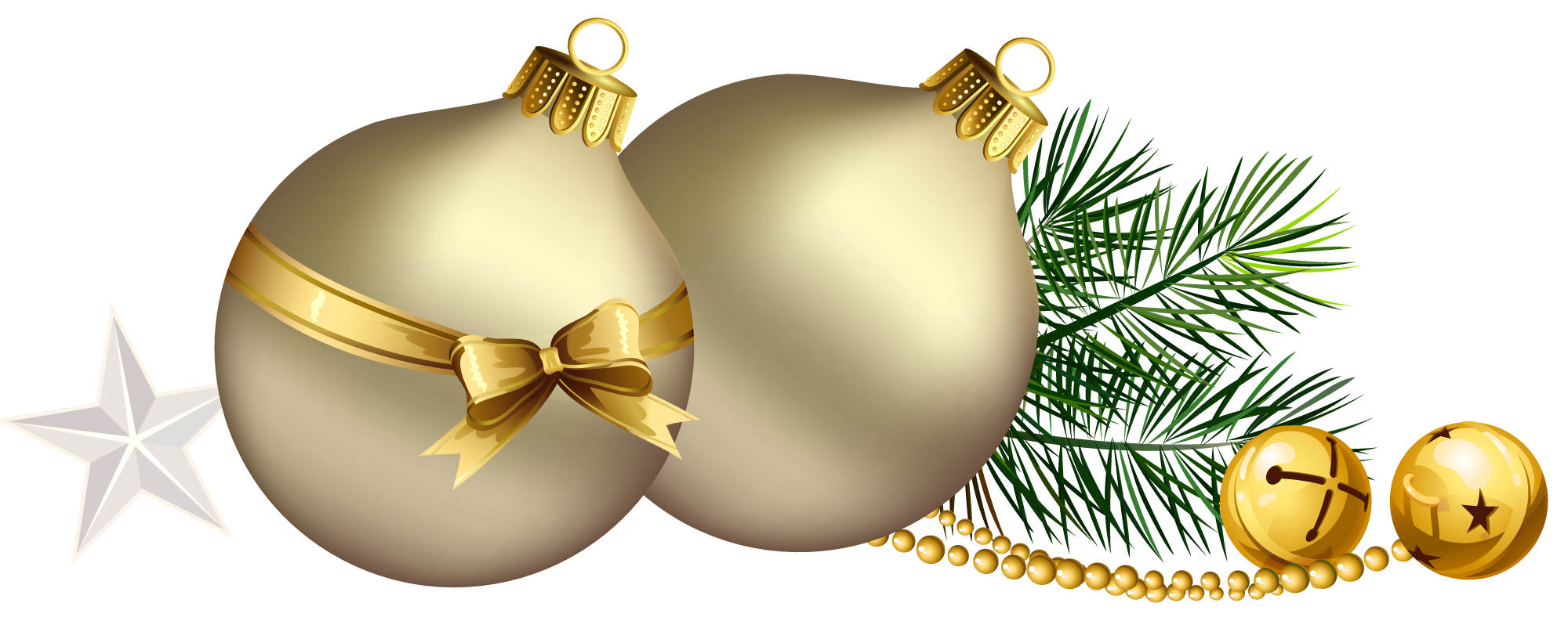 picture royalty free stock Balls with pine branch. Christmas borders free clipart