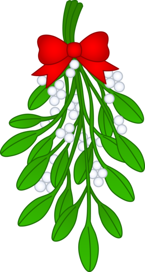 clip transparent download Mistletoe clipart merry christmas. With red bow free.