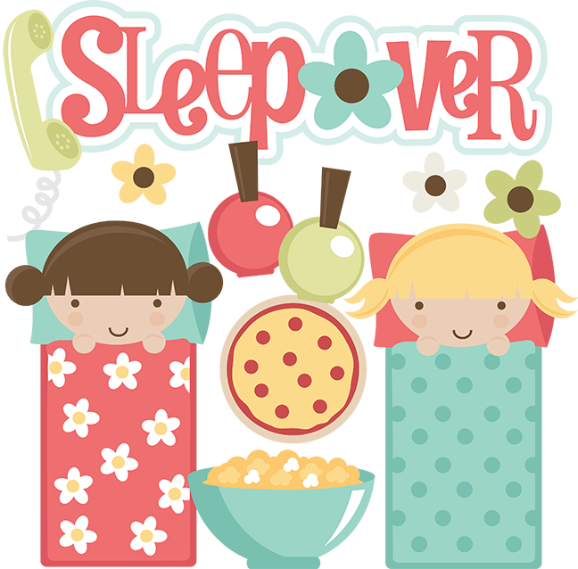 image free stock Sleepover SVG files for scrapbooking sleepover clipart cute