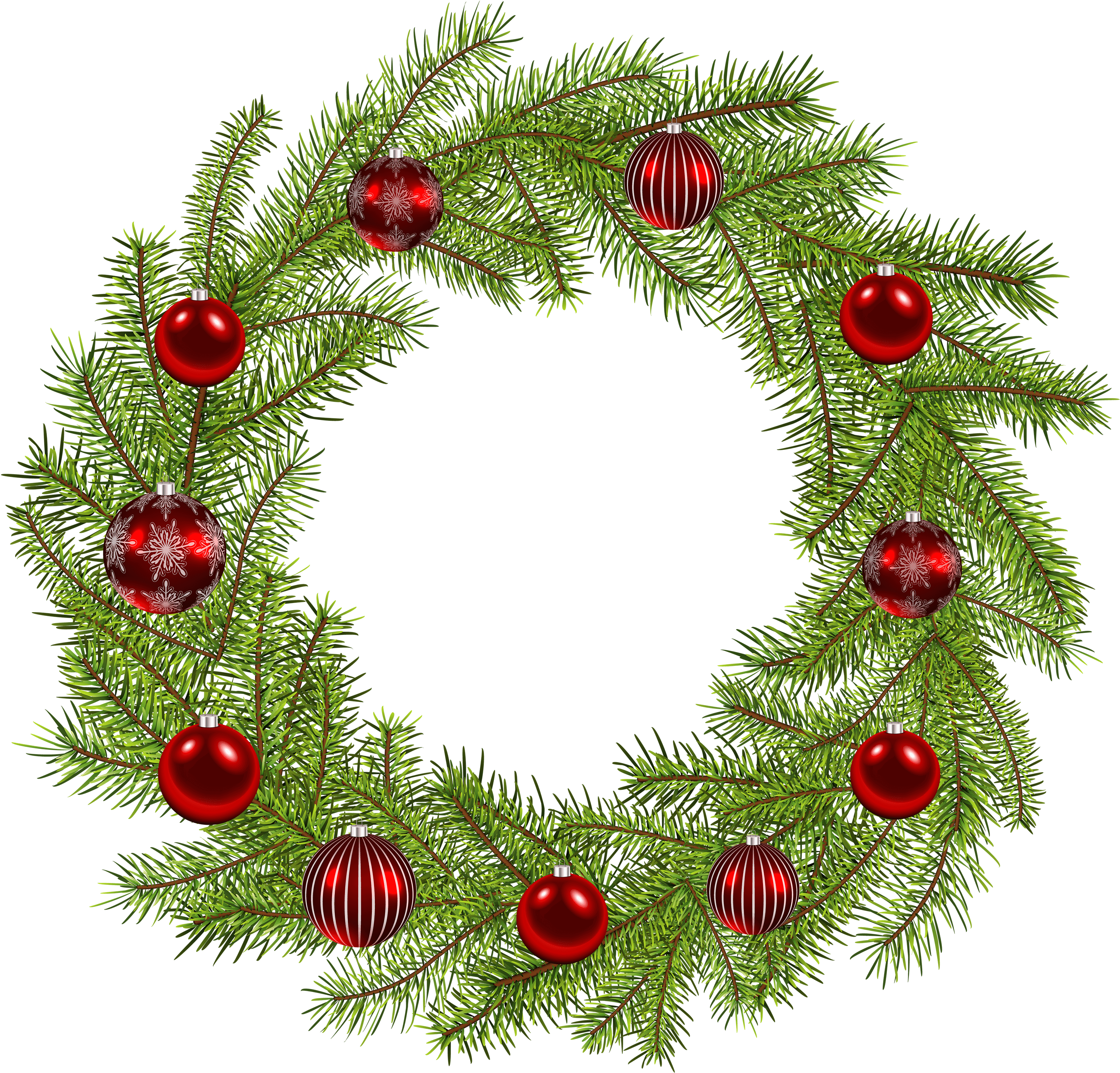 clipart royalty free Holiday wreath clipart. Deco christmas png clip