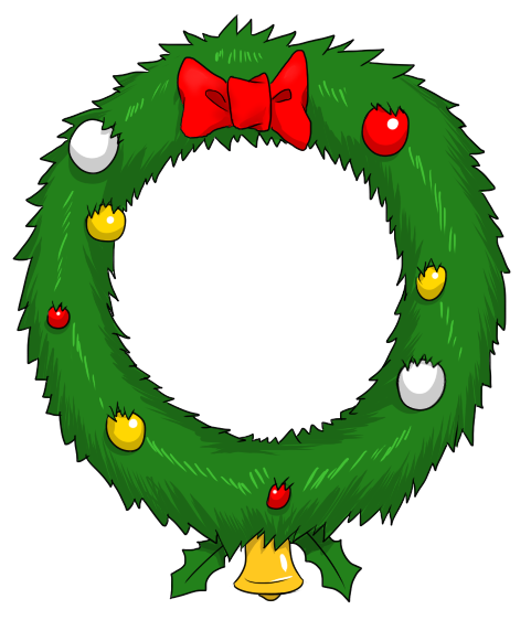 clipart black and white For your website clipartmonk. Holiday wreath clipart