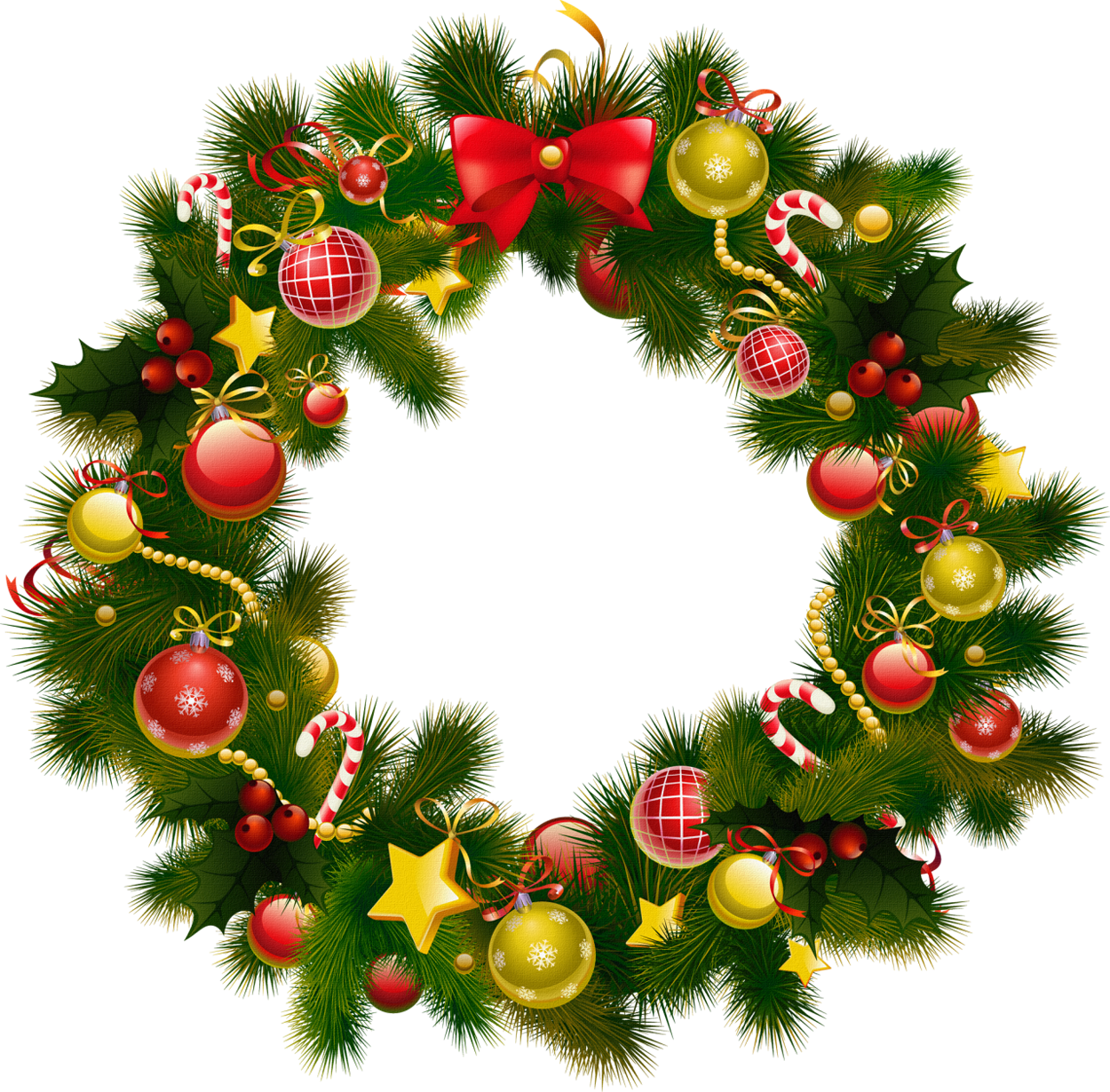 banner free Christmas photo frame gallery. Holiday wreath clipart