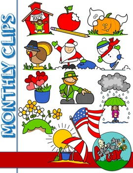 graphic download Monthly seasonal work clip. Holidays clipart.