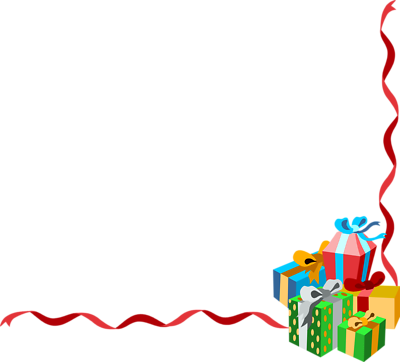 picture freeuse library Christmas clipart corner borders. Presents png file lower