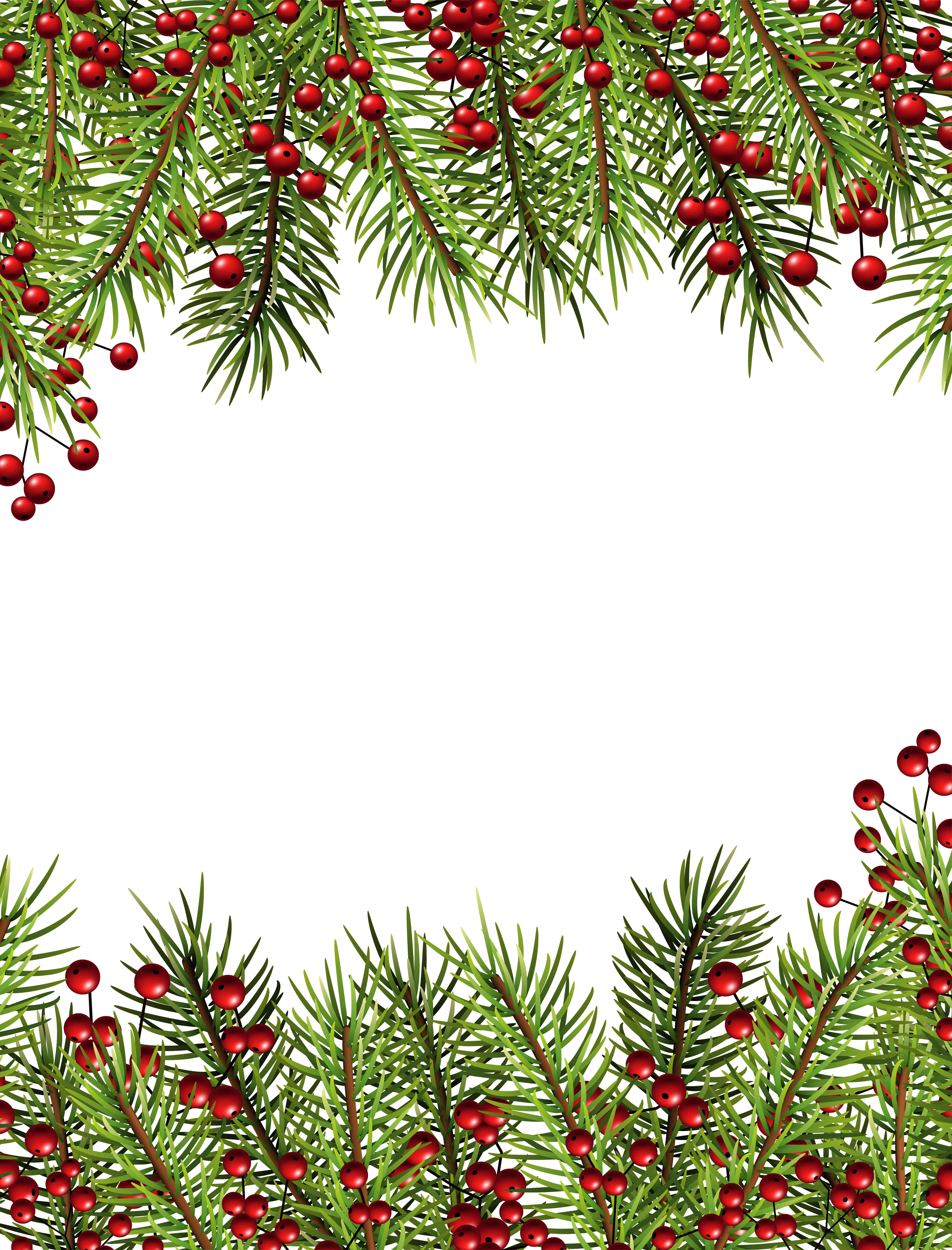 clipart free stock Clipart christmas borders and frames. Holly transparent border png
