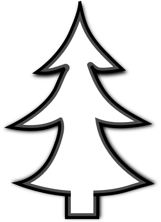 picture transparent Christmas border panda free. Clipart trees black and white