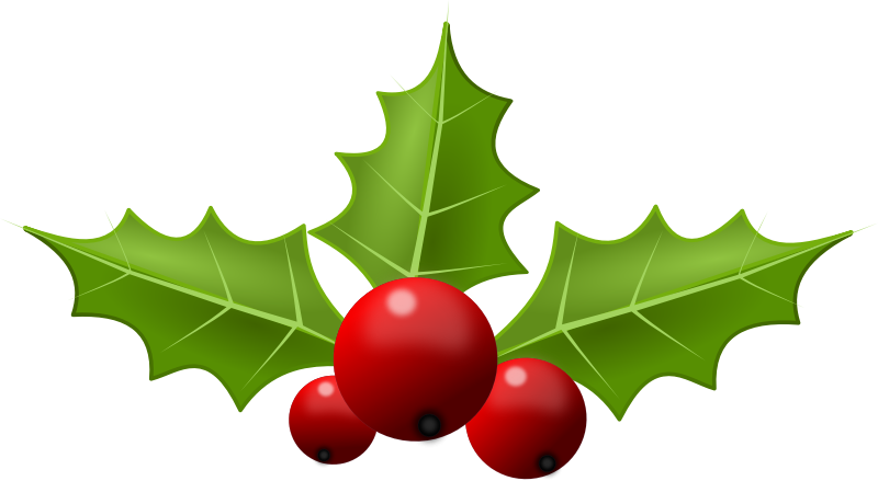 clip art royalty free library Christmas Holly Clipart
