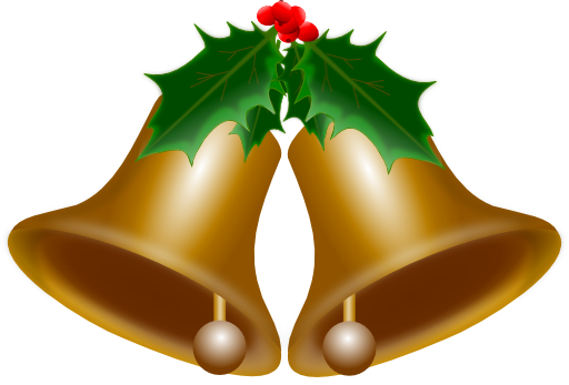 image black and white library Xmas clipart motif. Bells of christmas i
