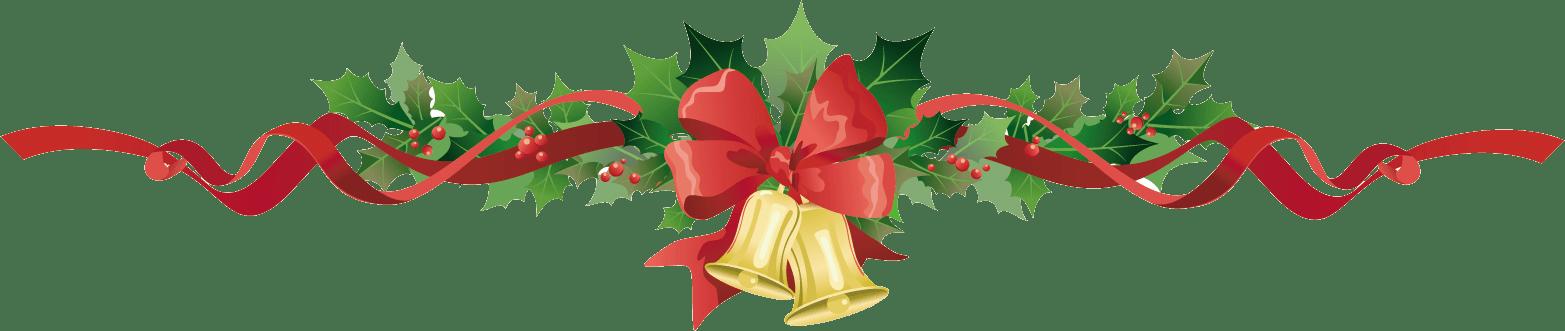 transparent Christmas Garland Bells transparent PNG