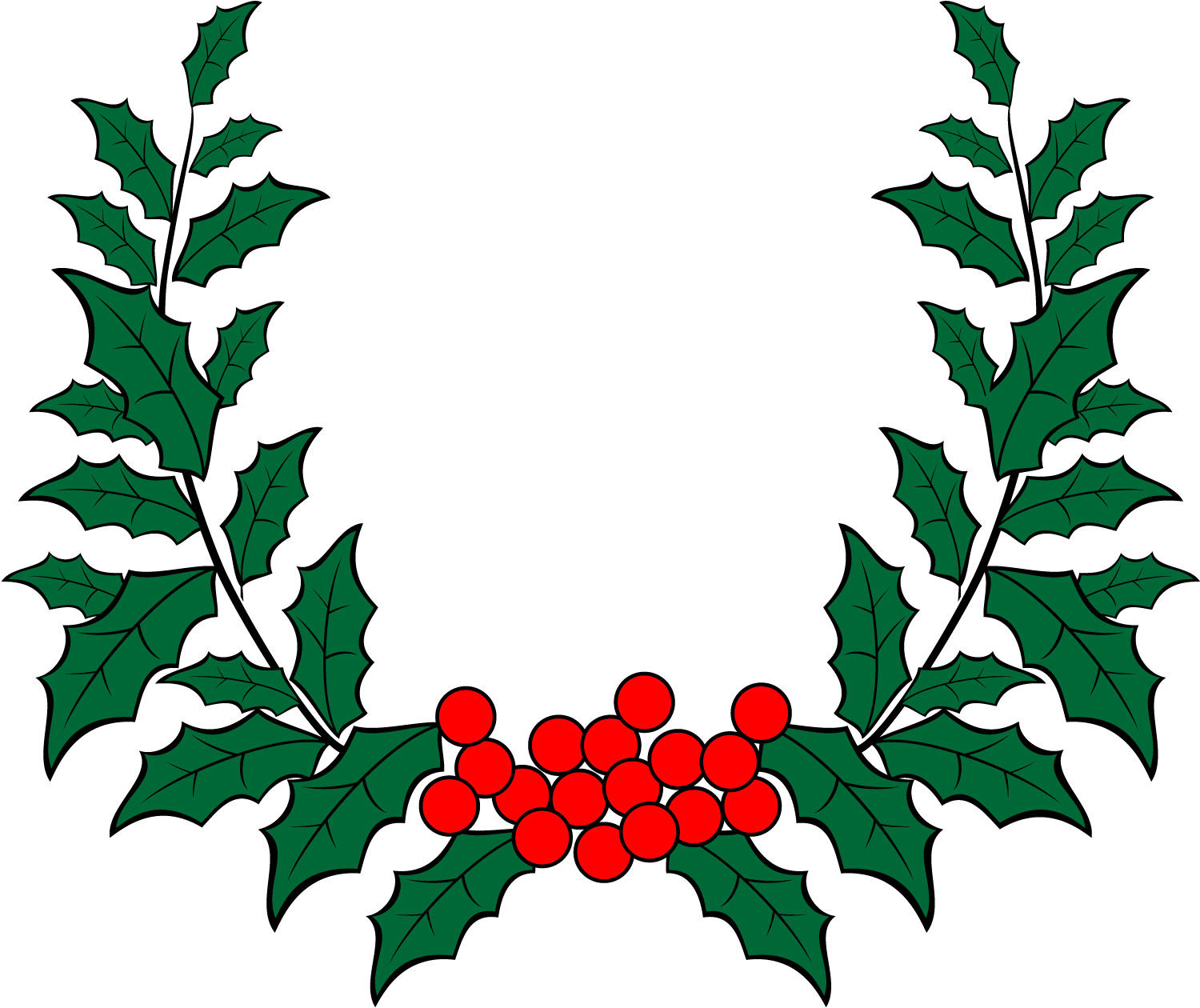 jpg freeuse download Holly wreath clipart. Free wreaths download clip