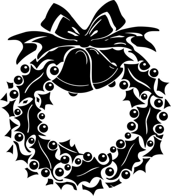 graphic freeuse library Free download clip art. Holly wreath clipart