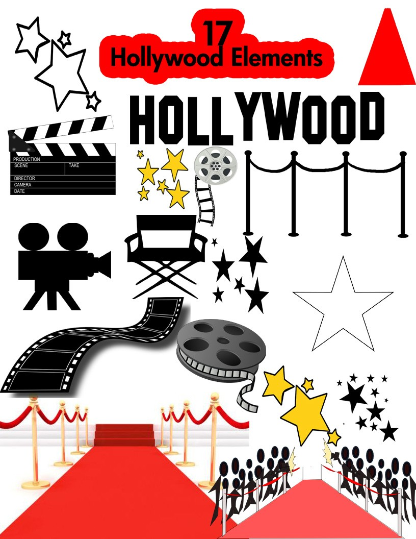 image black and white stock Free cliparts download clip. Hollywood clipart.