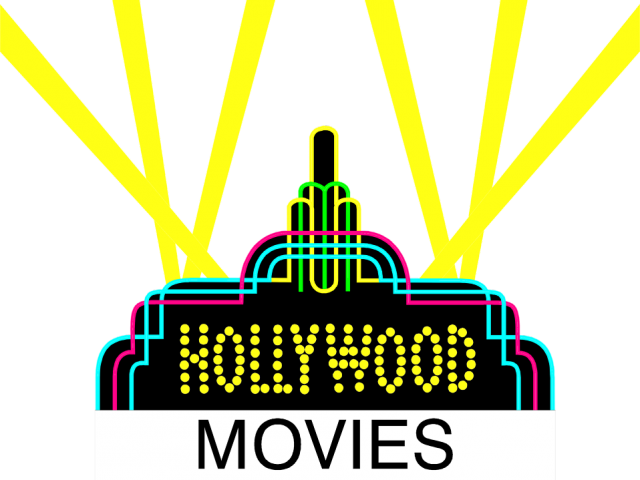 graphic black and white Hollywood clipart. Sign free on dumielauxepices.
