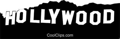 graphic free stock Hollywood Sign Clipart