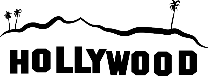 clipart black and white stock hollywood background clipart #57336114