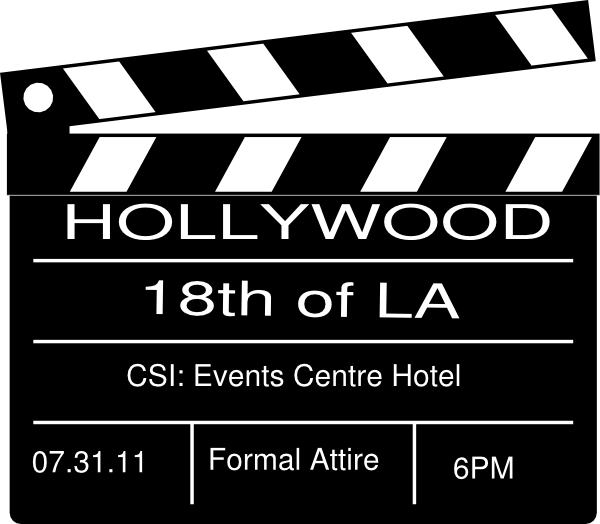jpg royalty free library Hollywood Theme Party Clip Art at Clker
