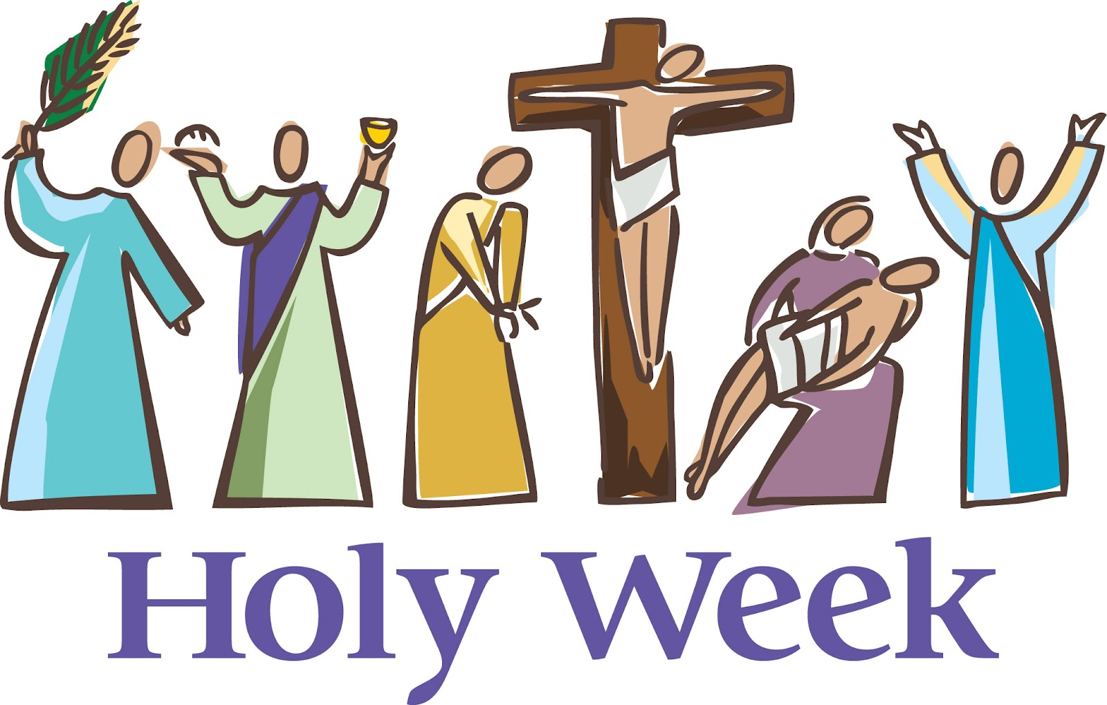 royalty free Christian our lady s. Holy week clipart.
