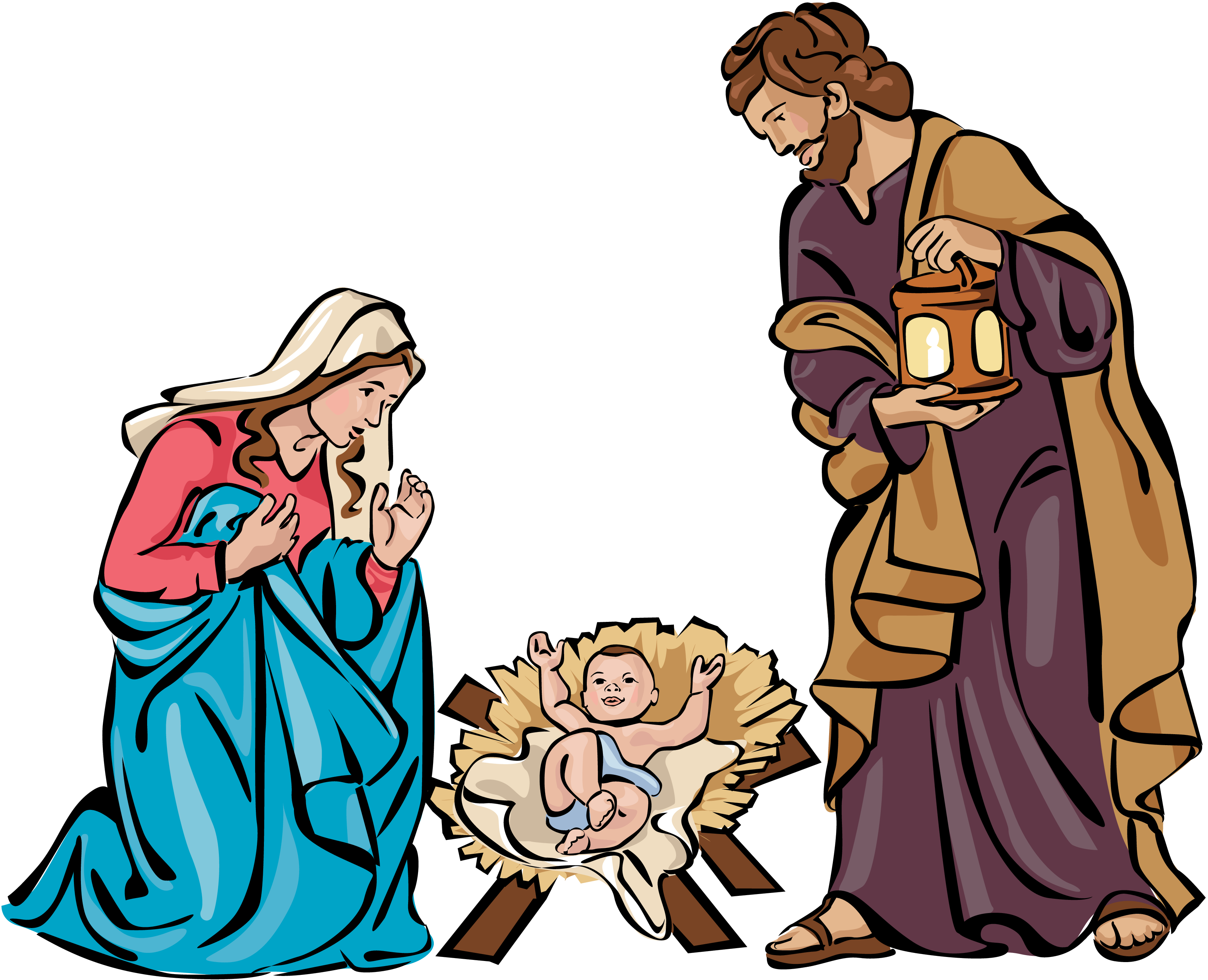 banner black and white download Christmas holy family clip. Nativity clipart season.