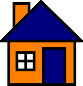 image library Orange And Blue House Clip Art at Clker