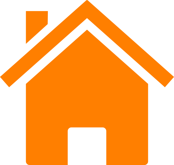 graphic free download Simple Orange House Clip Art at Clker