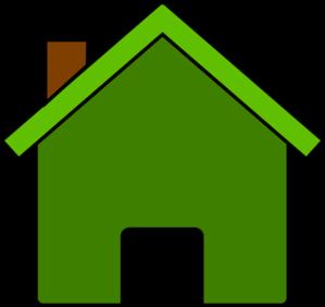 vector transparent download Home clipart. Green house clip art.
