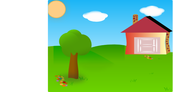 vector free library Backyard With House Moved Clip Art at Clker