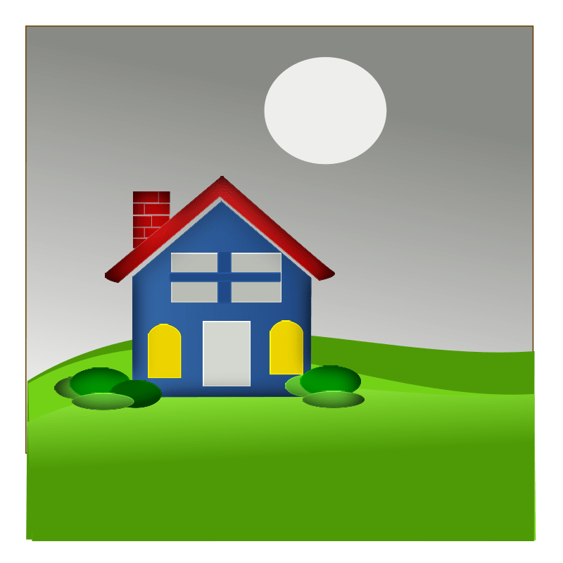 vector royalty free Clipart Cool Home