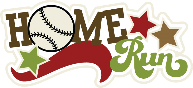 svg freeuse Home Run Free Clipart
