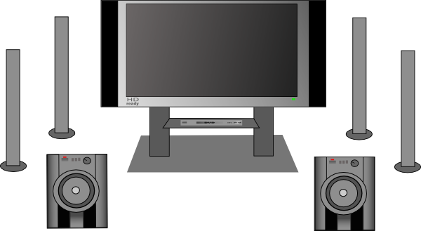clip art transparent download Home Theater Lcd Flat Panel Clip Art at Clker
