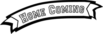 vector black and white Homecoming Clipart