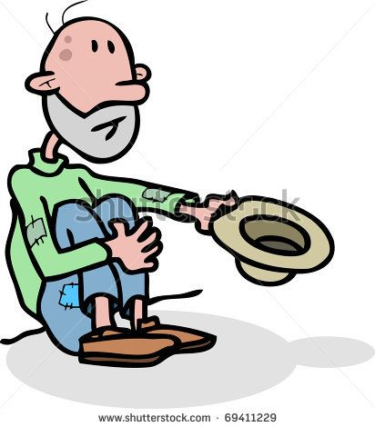 clip art transparent library Poor person clip art. Homeless clipart.